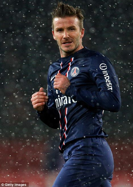 Star attraction: David Beckham is set to make his first start for PSG