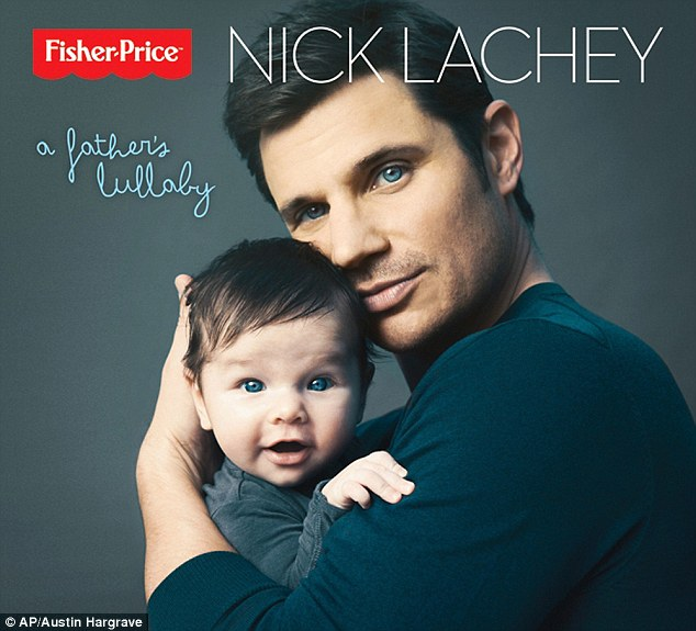 Just like dad: Nick Lachey's and his son Camden appear on the cover for the singer's first ever lullaby album
