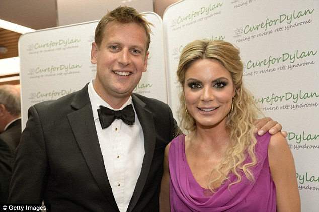Lucky man: Chamberlin and fellow Sky Sports presenter Charlotte Jackson attend an evening in aid of Cure for Dylan - a charity which raises money to help reverse Rett syndrome - at Stamford Bridge
