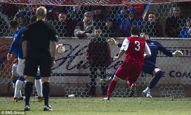 Parity restored: Stirling's Ross Forsyth makes it one apiece
