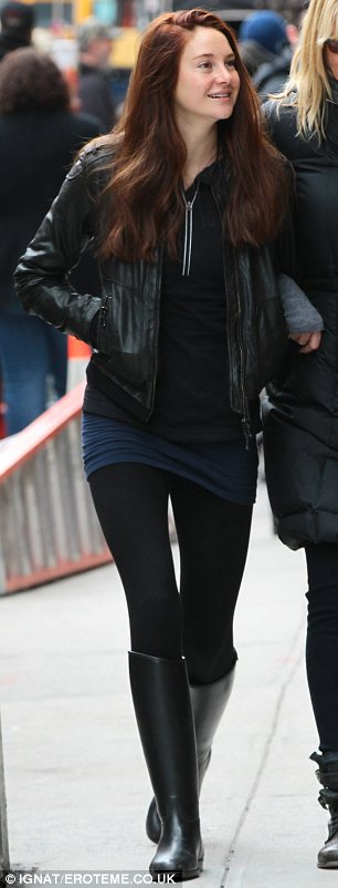 Fresh-faced starlet: The 21-year-old plays Mary Jane Watson and was make-up free as she strolled around Manhattan