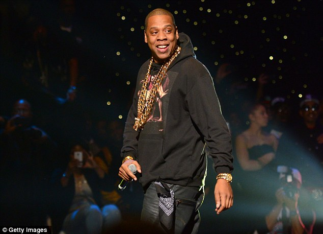Man of the night: Jay-Z left Beyonce and Blue Ivy's side to perform at the star-studded concert