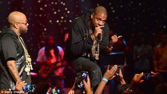 Star power: Jay-Z was also one of the big names giving it his all at the Fox Theater