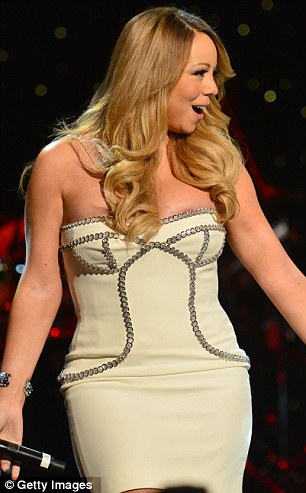 Celebrations: Mariah was just one of the big stars gracing the stage to mark the label's milestone in Atlanta, Georgia