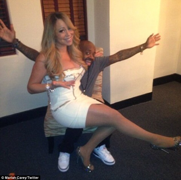 Celeb pals: Mariah even tweeted about the concert as she shared a moment backstage before they both got on the mic
