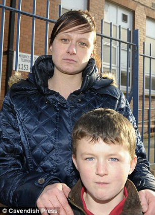Emma Chadwick whose son Harley Marsh aged 7 is a pupil at the Revoe Community School in Blackpool