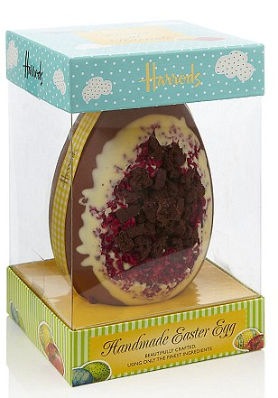 Harrods Chocolate Brownie and Raspberry Egg