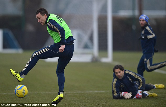 Skills: Terry is recovering to full fitness having missed Sunday's 2-0 defeat against Manchester City