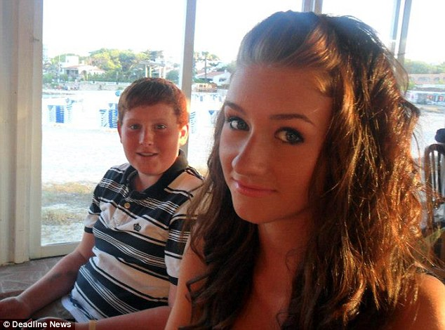 Gregor's distraught sister, Rachel (right), took to Twitter to share the news of her brother's death