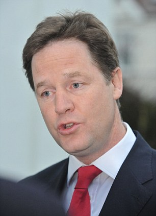 Ill-judged: Nick Clegg has launched an attack on journalists for exposing the Lord Rennard scandal