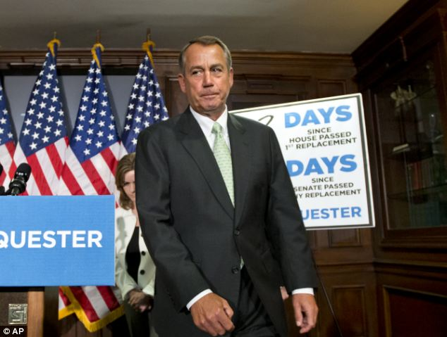 House Speaker John Boehner has said he finds it very difficult to believe that ICE couldn't cut something else