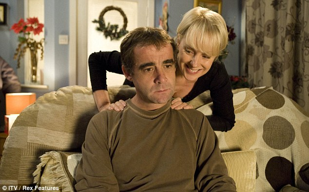 TV personality: Michael Le Vell as Kevin Webster with Sally Whittaker who plays his on screen wife Sally Webster in Coronation Street