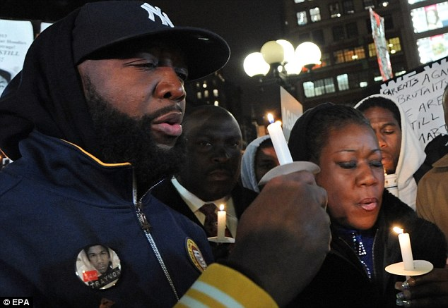 Fury: Travyon's parents, Tracy Martin and Sybrina Fulton, have led a national movement that resulted in protests across the country