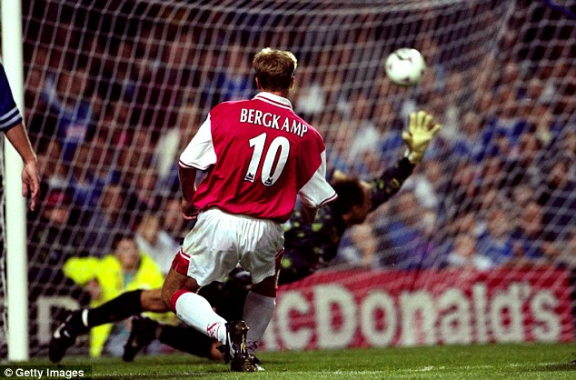 Legend: This strike against Leicester in 1997 has gone down as one of the Premier League's finest