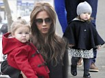 Harper Beckham is Posh's mini Imelda Marcos: She's only 19 months old but Victoria Beckham's daughter already has a shoe collection worth £1,500