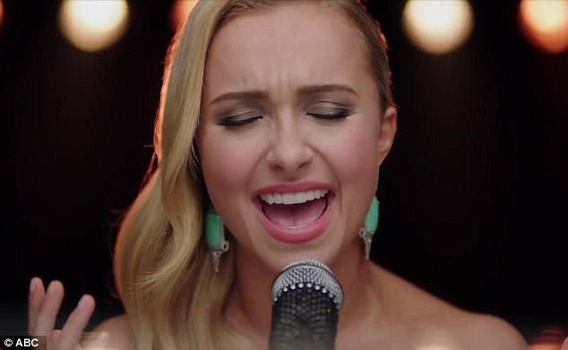 Giving it her all: Hayden was once a Grammy-nominated singer before she found fame as an actress