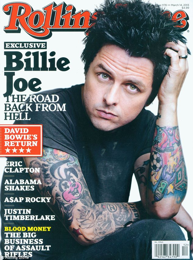 Committed: Billy Joe Armstrong of Green Day fame has opened up to Rolling Stone magazine about getting sober after years of substance abuse