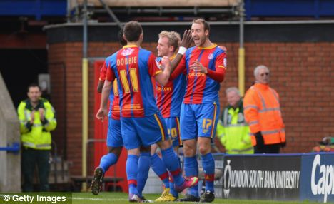 On form: Glenn Murray (right) has been unstoppable this season, with 27 league goals
