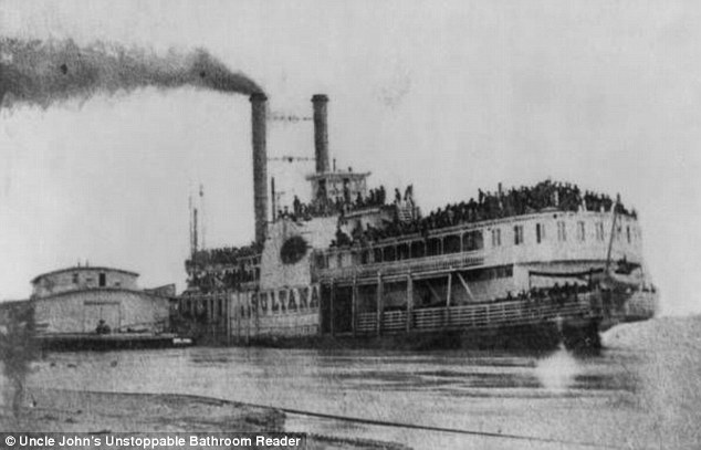 The Sultana was carrying six times as many passengers than its maximum capacity when it sank in 1865