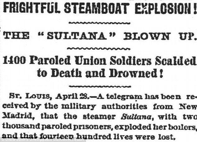 Newspaper reports of the tragedy were relegated to the back pages because of the end of the Civil War