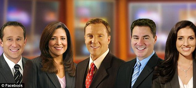 Popular broadcaster: Lopez, second left, has been anchoring KEYT's 11pm news since 1996