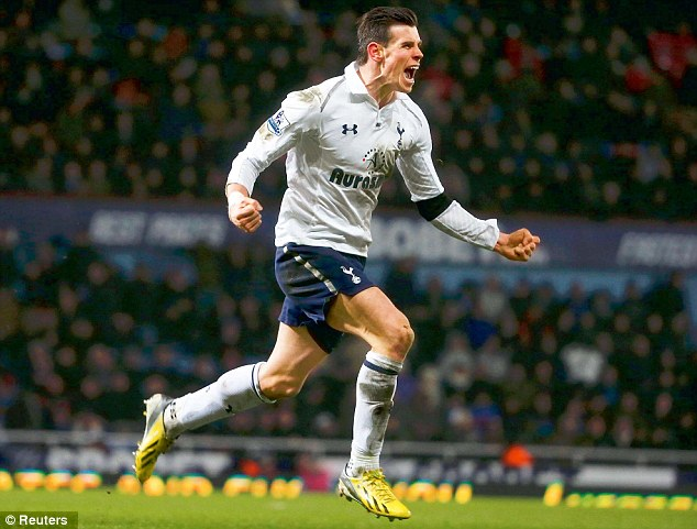 One-man show?: Gareth Bale is leading Tottenham's assault on the top four this season