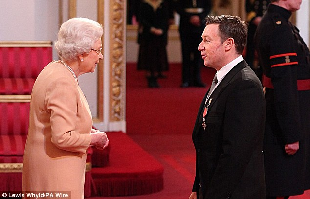 Bowled Over: Cricketer Robert Croft collected his MBE after retiring from a 23-year career with England and Glamorgan