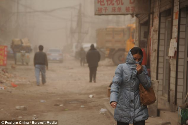 Health hazard: The levels of dangerous particles that can embed in people's lungs was off the scale