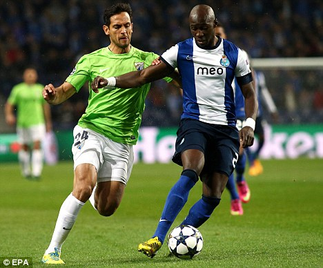 Target man: Eliaquim Mangala (right) is being monitored by Manchester City