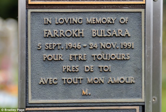 In memoriam: The now removed plaque has the date of birth and death for Freddie Mercury as well as a message in French, 'to be close to you always, with all my love¿