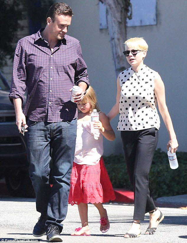 Too far apart: Michelle Williams, was reportedly not prepared to fully commit to actor and writer Jason Segel