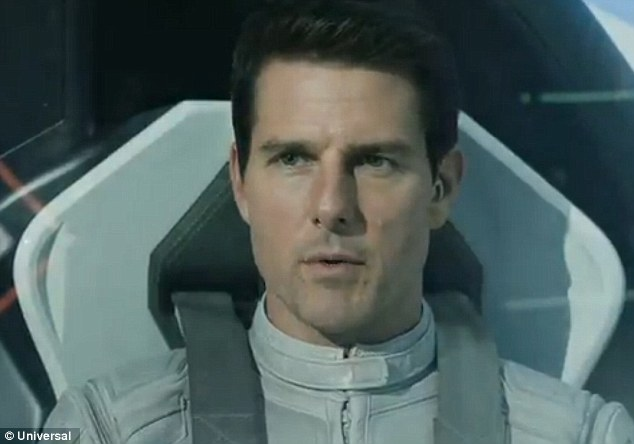 Top Gun 2073: It will have been just like old times for Tom as he sat in the futuristic spacecraft