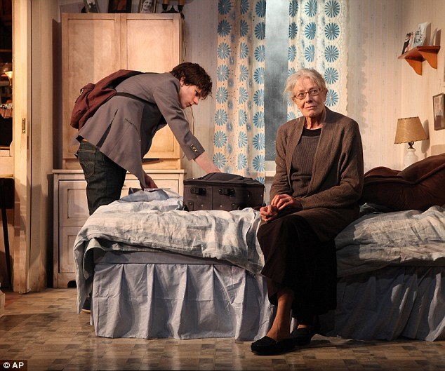 Lauded: Ms Redgrave was praised for her performance as Maria, a Holocaust survivor who receives a visit from a distant and entitled relative, played by Eisenberg