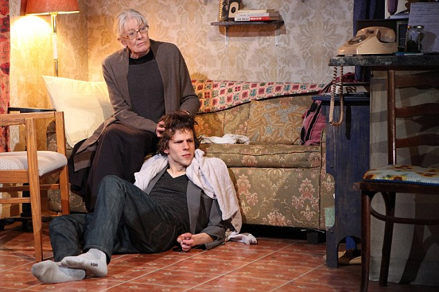 Co-stars: Jesse Eisenberg and Vanessa Redgrave feature in the actor's latest stage production The Revisionist, Off Broadway