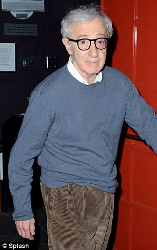 Luminary: Woody Allen was among audience members in the 179-seat theatre for Eisenberg's latest writing and acting effort