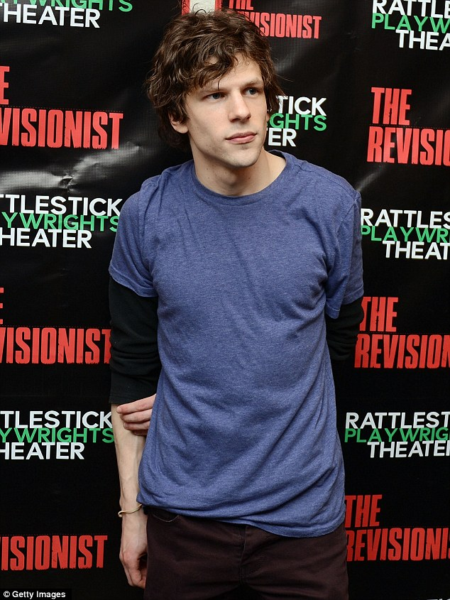 Before the show: Jesse Eisenberg attends The Revisionist opening night at Cherry Lane Theatre in New York City on February 28, 2013