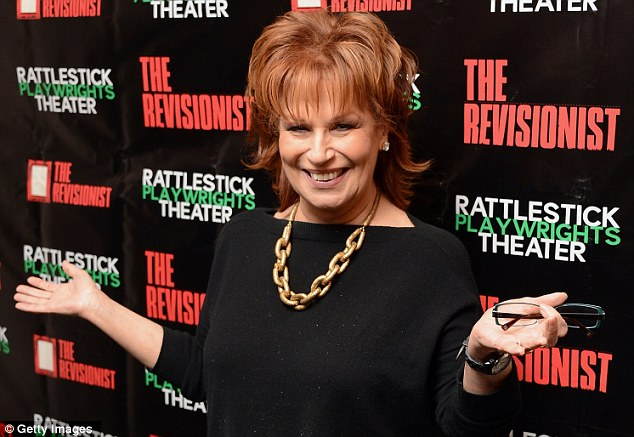 Happy to be here: The View co-host Joy Behar looked thrilled to be at opening night