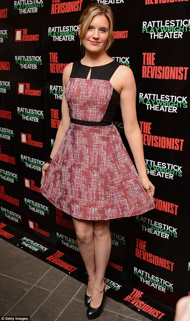Ready for a bow: Actress Maggie Grace was also in attendance