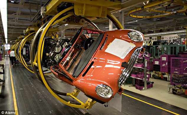 Difficult times: UK manufacturing contracted last month, stoking fears the economy is heading for a triple-dip
