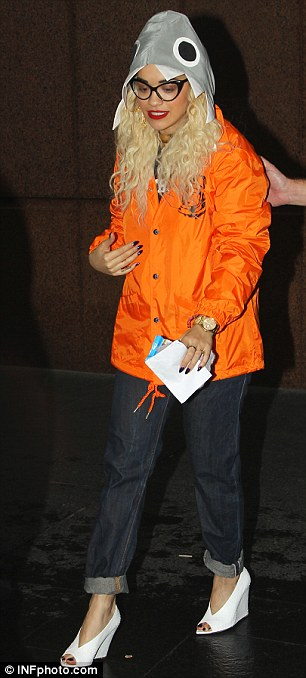 Clucking mad: Rita looked slightly less bad as she went shopping earlier this week