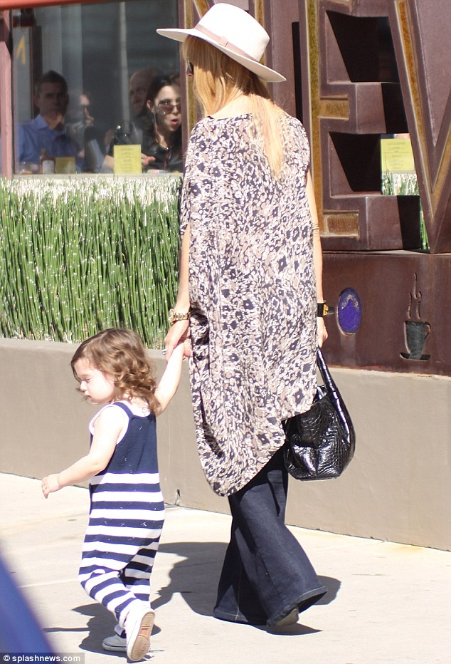 Quite a day: The duo shopped at Ralph Lauren and Kids Kitson in Beverly Hills