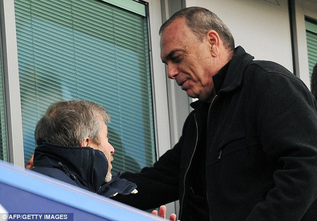 Waiting in the wings: Abramovich and former Blues boss Avram Grant remain close