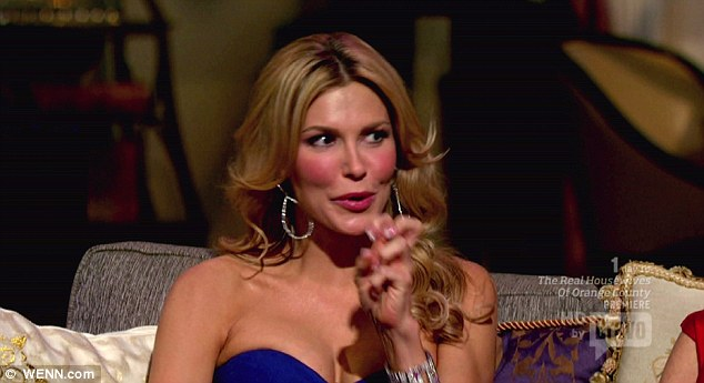 She did it: Adrienne blames Brandi Glanville, pictured, for 'destroying' her family