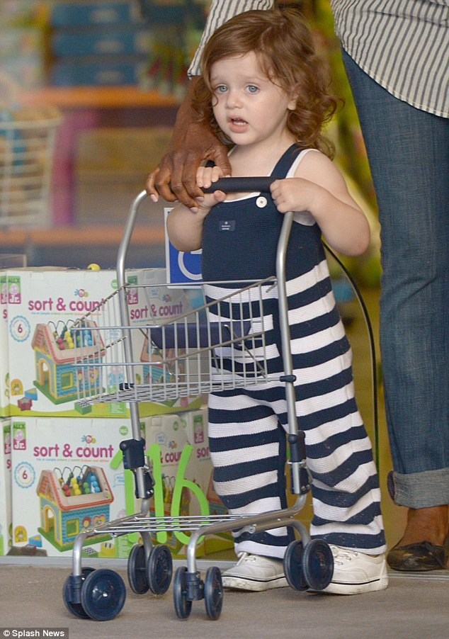 Just like mum: Skyler wanted to get some shopping done