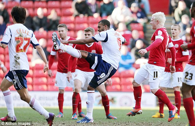 Thriller: David Ngog scored the first goal of the afternoon