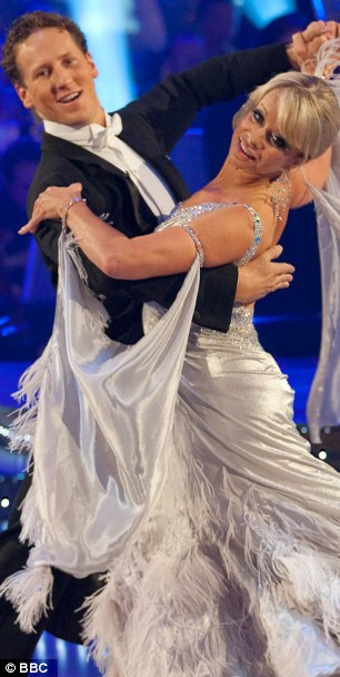 Danger tango: Jo and dance partner Brendan Cole on Strictly Come Dancing in 2009