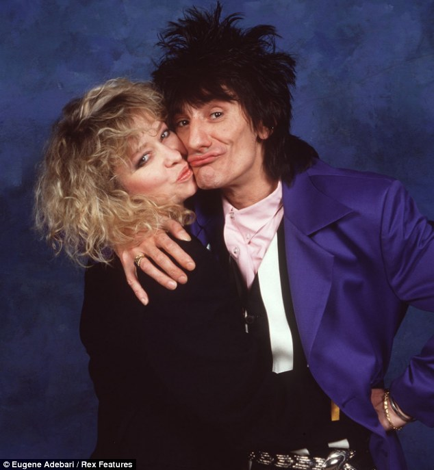 Debauchery: Jo and Ronnie, pictured in 1990, spent much of autumn 1977 taking drugs in a Paris hotelroom with Keith Richards
