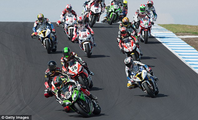 Busy: The Silverstone Superbike event will go ahead in 2013 along with the MotoGP and F1 races