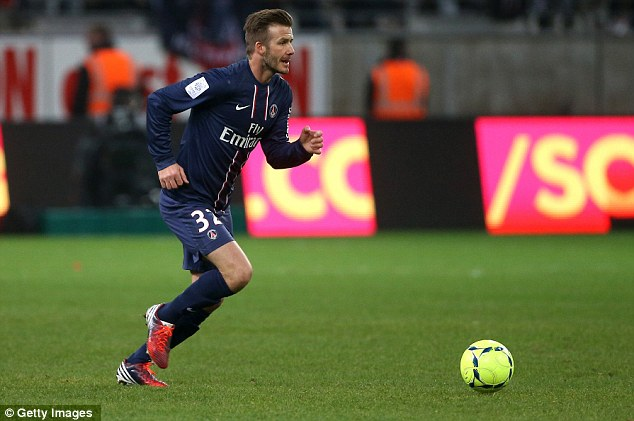 Defeat: Beckham's PSG lost 1-0 to Reims in a Ligue 1 match on Saturday