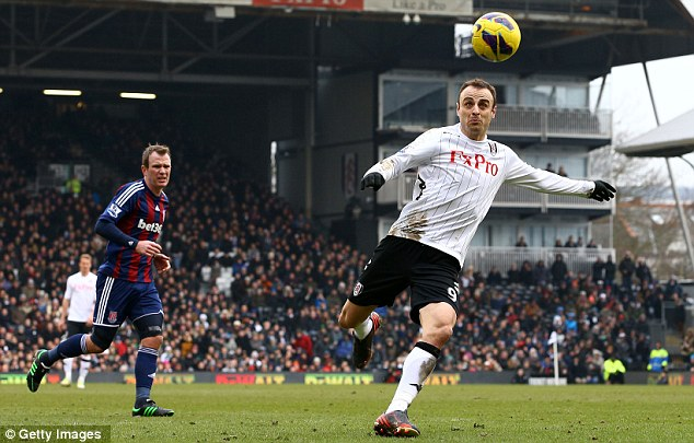 Out of this world: Dimitar Berbatov is one of several players this season to produce a 'worldie'